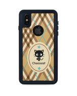 Chococat Brown and Blue Plaid iPhone X Waterproof Case