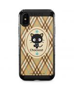 Chococat Brown and Blue Plaid iPhone XS Max Cargo Case