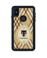 Chococat Brown and Blue Plaid iPhone XS Waterproof Case