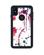 Chromatic Splatter White iPhone X Waterproof Case