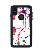 Chromatic Splatter White iPhone XS Waterproof Case
