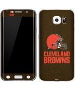 Cleveland Browns Distressed Galaxy S6 Edge Skin