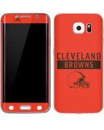 Cleveland Browns Orange Performance Series Galaxy S6 Edge Skin