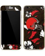 Cleveland Browns Tropical Print iPhone 6/6s Skin