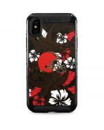 Cleveland Browns Tropical Print iPhone XS Max Cargo Case