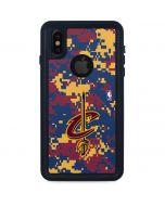 Cleveland Cavaliers Digi Camo iPhone X Waterproof Case