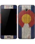 Colorado Flag Dark Wood Galaxy Grand Prime Skin