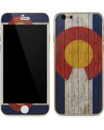Colorado Flag Dark Wood iPhone 6/6s Skin