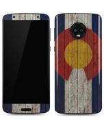 Colorado Flag Dark Wood Moto G6 Skin