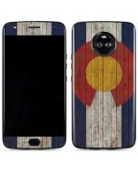 Colorado Flag Dark Wood Moto X4 Skin