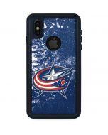 Columbus Blue Jackets Frozen iPhone XS Waterproof Case