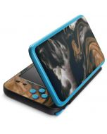 Copper and Black Marble Ink 2DS XL (2017) Skin