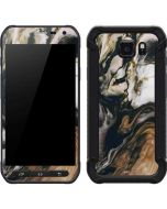 Copper and Black Marble Ink Galaxy S6 Active Skin