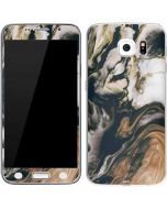 Copper and Black Marble Ink Galaxy S6 Skin