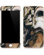 Copper and Black Marble Ink iPhone 6/6s Plus Skin