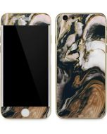 Copper and Black Marble Ink iPhone 6/6s Skin