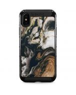 Copper and Black Marble Ink iPhone X Cargo Case