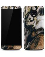Copper and Black Marble Ink Moto G6 Skin