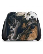 Copper and Black Marble Ink Nintendo Switch Joy Con Controller Skin