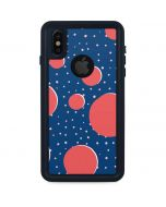 Coral Polka Dots iPhone XS Waterproof Case