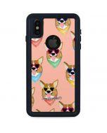 Corgi Love iPhone XS Waterproof Case