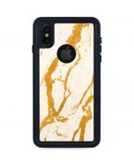 Cracked Marble iPhone XS Waterproof Case