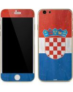 Croatia Flag Distressed iPhone 6/6s Skin