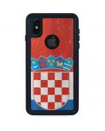 Croatia Flag Distressed iPhone XS Waterproof Case