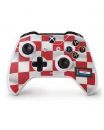 Croatia Soccer Flag Xbox One S Controller Skin
