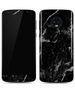 Crushed Black Moto G6 Skin
