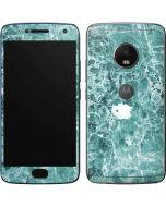 Crushed Turquoise Moto G5 Plus Skin