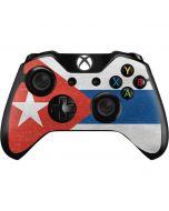 Cuban Flag Distressed Xbox One Controller Skin