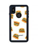Cute Burgers iPhone XS Waterproof Case