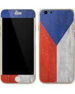 Czech Republic Flag Distressed iPhone 6/6s Skin