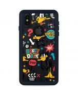 Daffy Duck Patches iPhone XS Waterproof Case