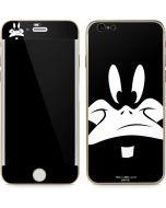Daffy Duck Plain Black and White iPhone 6/6s Skin