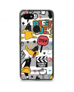 Daffy Duck Striped Patches Google Pixel 3a Clear Case