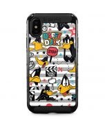 Daffy Duck Striped Patches iPhone XS Max Cargo Case