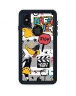 Daffy Duck Striped Patches iPhone XS Waterproof Case
