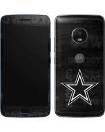 Dallas Cowboys Black & White Moto G5 Plus Skin