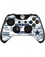 Dallas Cowboys Blue Blast Xbox One Controller Skin