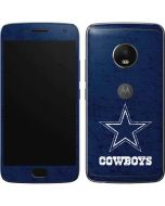 Dallas Cowboys Distressed Moto G5 Plus Skin