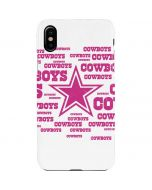 Dallas Cowboys Pink Blast iPhone XS Max Lite Case