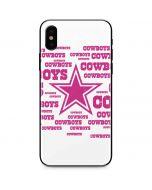Dallas Cowboys Pink Blast iPhone XS Max Skin