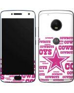 Dallas Cowboys Pink Blast Moto G5 Plus Skin