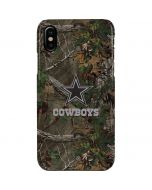 Dallas Cowboys Realtree Xtra Green Camo iPhone XS Max Lite Case