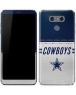 Dallas Cowboys White Striped LG G6 Skin