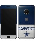 Dallas Cowboys White Striped Moto G5 Plus Skin