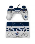 Dallas Cowboys White Striped PlayStation Classic Bundle Skin
