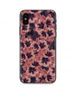 Dark Tapestry Floral iPhone X Skin